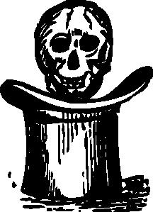 free vector Skull Over Top Hat clip art