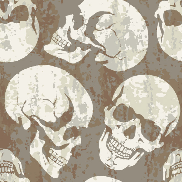 free vector Skull theme vector background