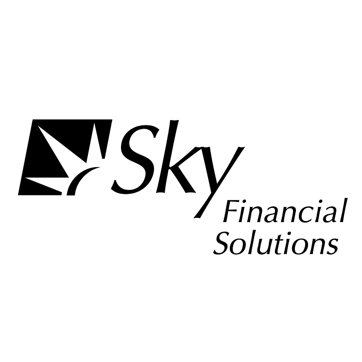 free vector Sky financial solutions