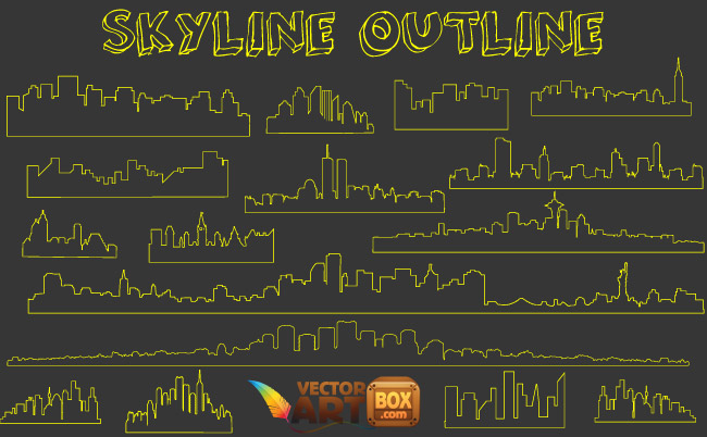 free vector Skyline Outline