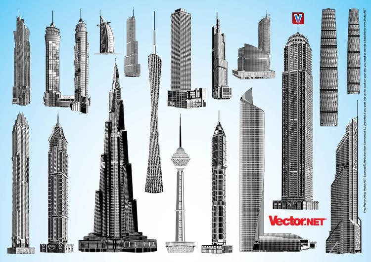 free vector Skyscraper Vector Pack 1