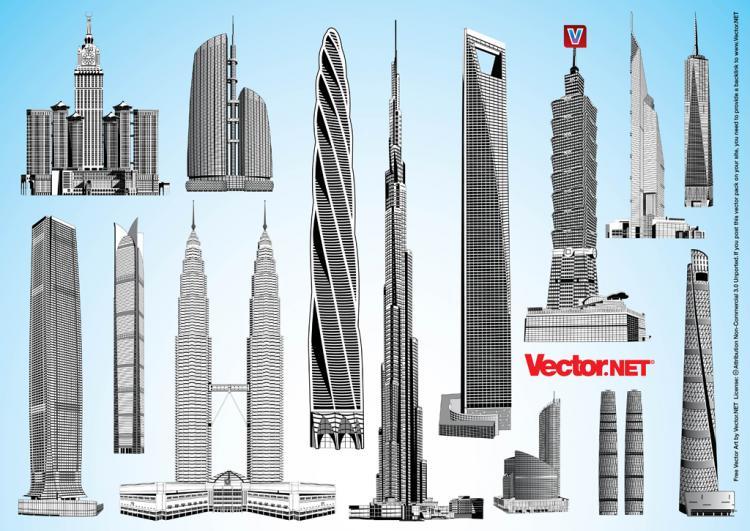free vector Skyscraper Vector Pack 2