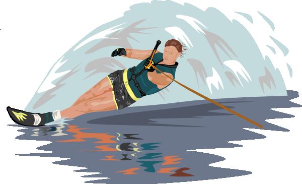 free vector Slalom Water Skier clip art