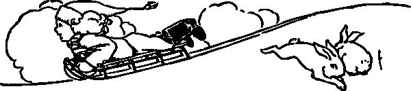 free vector Sledding clip art