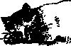 free vector Sleeping Cat clip art