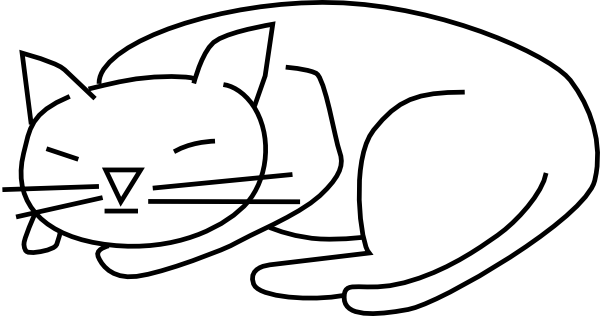 free vector Sleeping_cat clip art