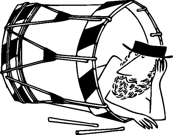 free vector Sleeping In A Basler Drum clip art