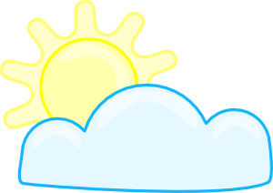 free vector Slightly Cloudy clip art