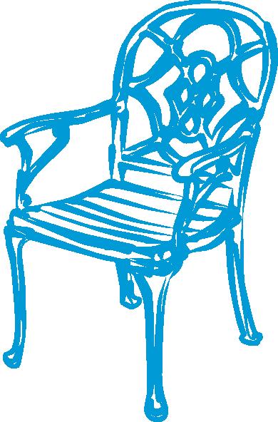 free vector Slim Blue Chair clip art