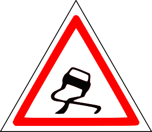 free vector Slippery Road clip art