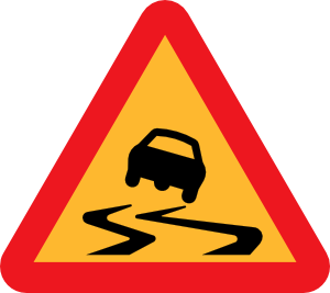 free vector Slippery Road Sign clip art