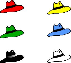free vector Slothing Men Six Hats clip art