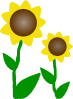 free vector Slunecnice clip art