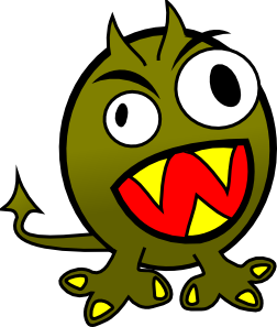 free vector Small Funny Angry Monster clip art