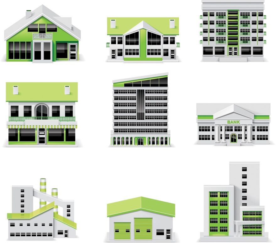 free vector Small green house vector