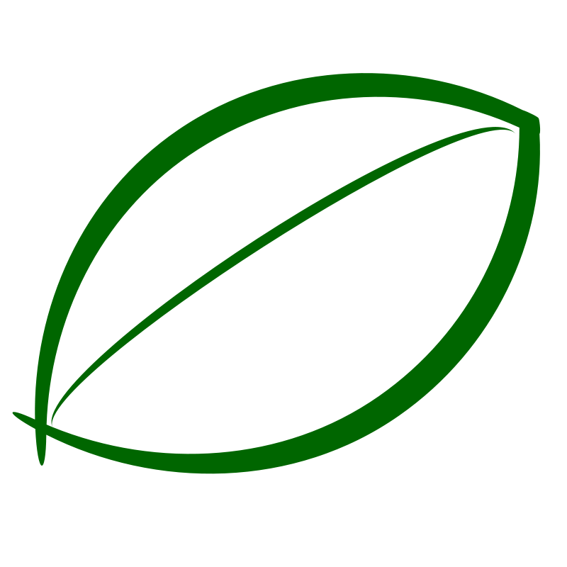 Small Green Leaf Icon Free Vector / 4Vector