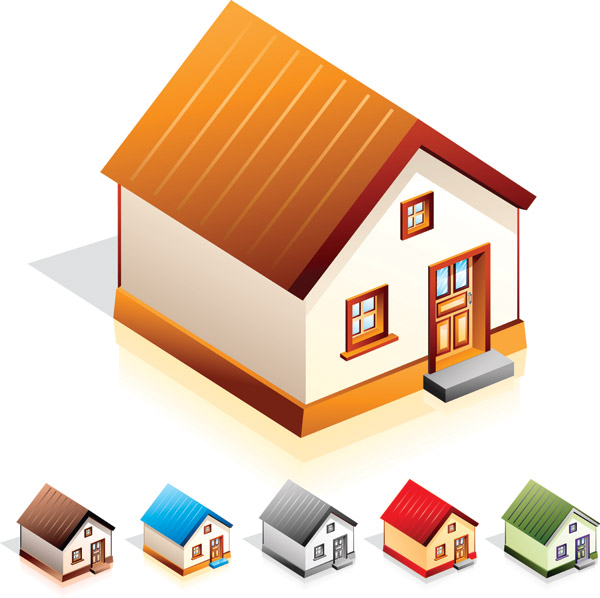 free vector Small house icon vector