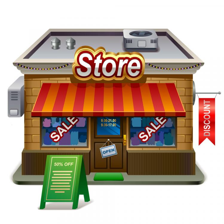 free vector Small shops model 02 vector