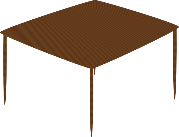 Small square table clip art free vector 4vector for Table design vector
