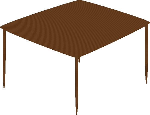 free vector Small Square Table clip art