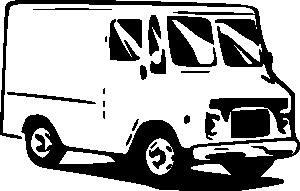 free vector Small Truck Usps Postal Service clip art