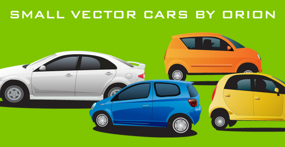 free vector Small Vector Cars