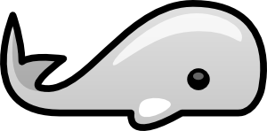 free vector Small Whale clip art