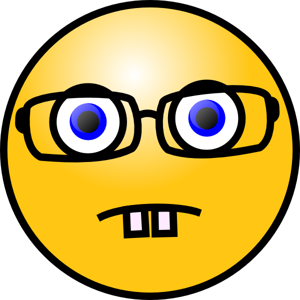 free vector Smiley Face With Glasses clip art