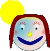 free vector Smiley Girl clip art