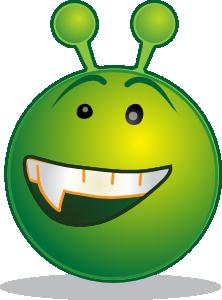 free vector Smiley Green Alien Aaah clip art