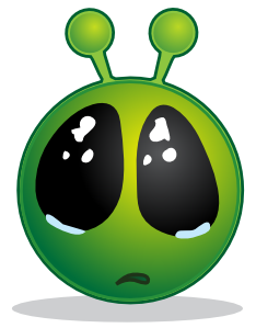 free vector Smiley Green Alien Big Eyes clip art