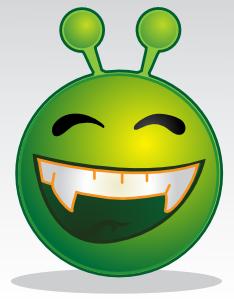 free vector Smiley Green Alien clip art