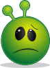 free vector Smiley Green Alien Disapointed clip art