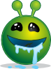 free vector Smiley Green Alien Droling clip art