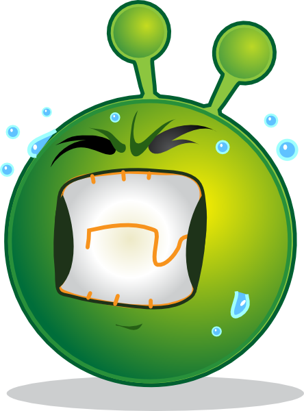 free vector Smiley Green Alien Huf clip art