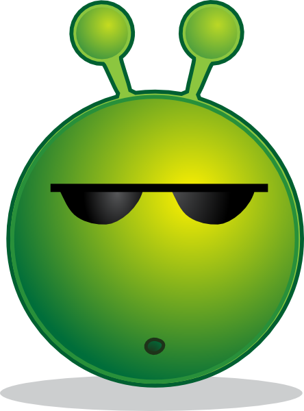 free vector Smiley Green Alien Huh clip art
