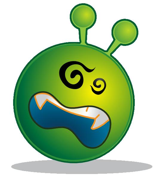 free vector Smiley Green Alien Ko clip art
