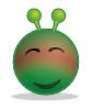 free vector Smiley Green Alien Red clip art