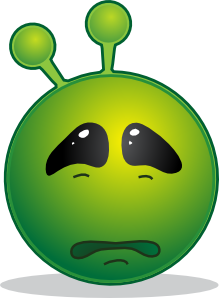 free vector Smiley Green Alien Sad clip art