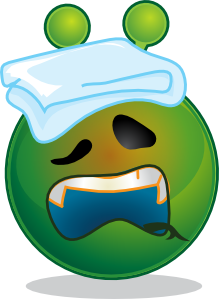 free vector Smiley Green Alien Sick clip art