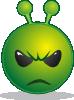 free vector Smiley Green Alien Unhappy clip art