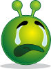 free vector Smiley Green Alien Weap clip art