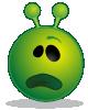 free vector Smiley Green Alien Whatface clip art