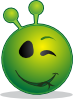 free vector Smiley Green Alien Wink clip art