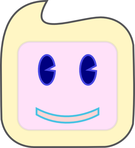free vector Smiley Square Face clip art