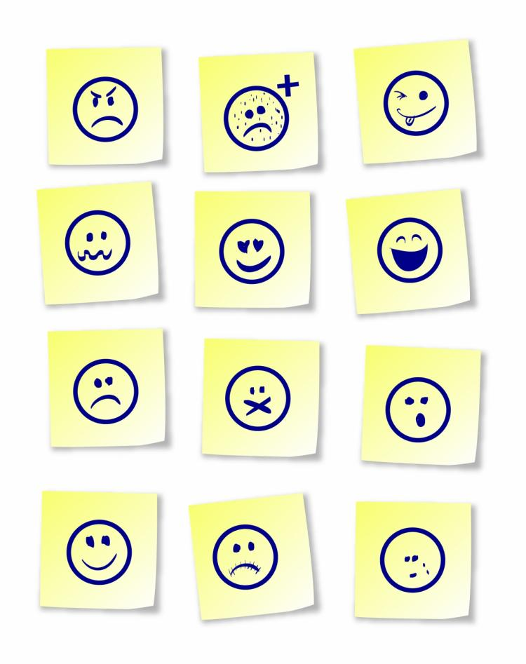 free vector Smiley sticky notes