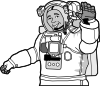 free vector Smiling Astronaut clip art