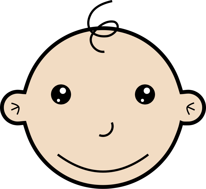 free vector Smiling baby