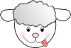 free vector Smiling Bad Sheep clip art