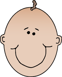 free vector Smiling Boyface Colour clip art